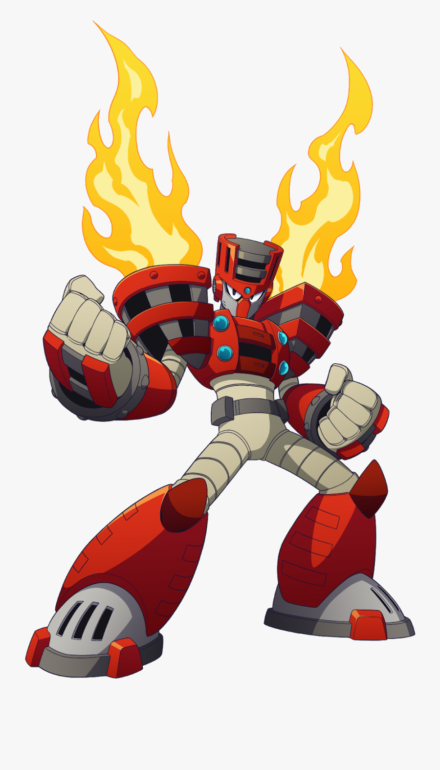 Torch Man2 - Mega Man 11 Boss, Transparent Clipart