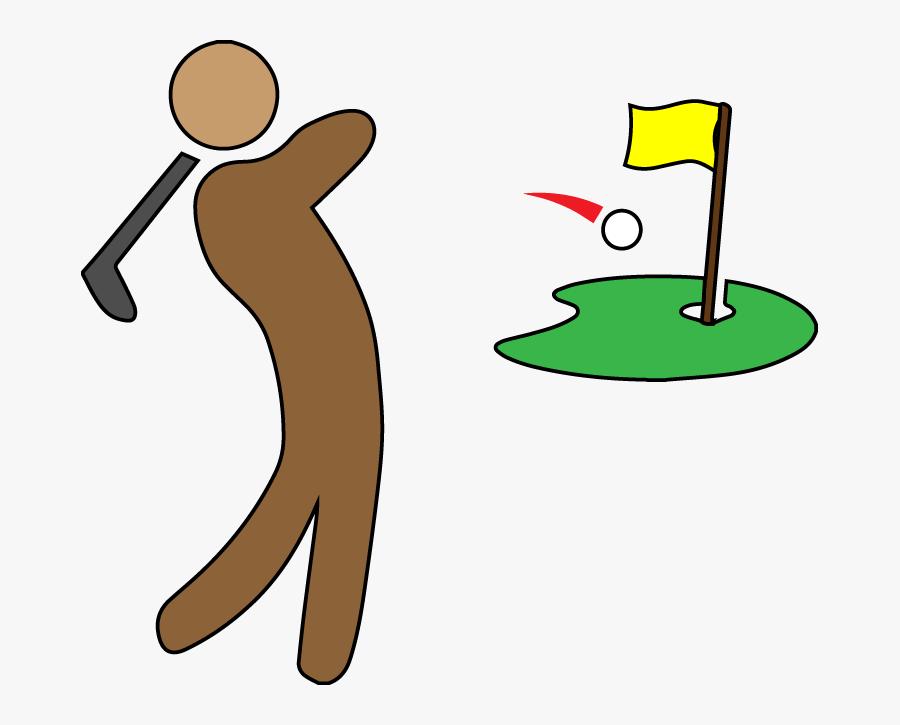 Clip Art Golf Football Putter Vector Graphics - Golf, Transparent Clipart