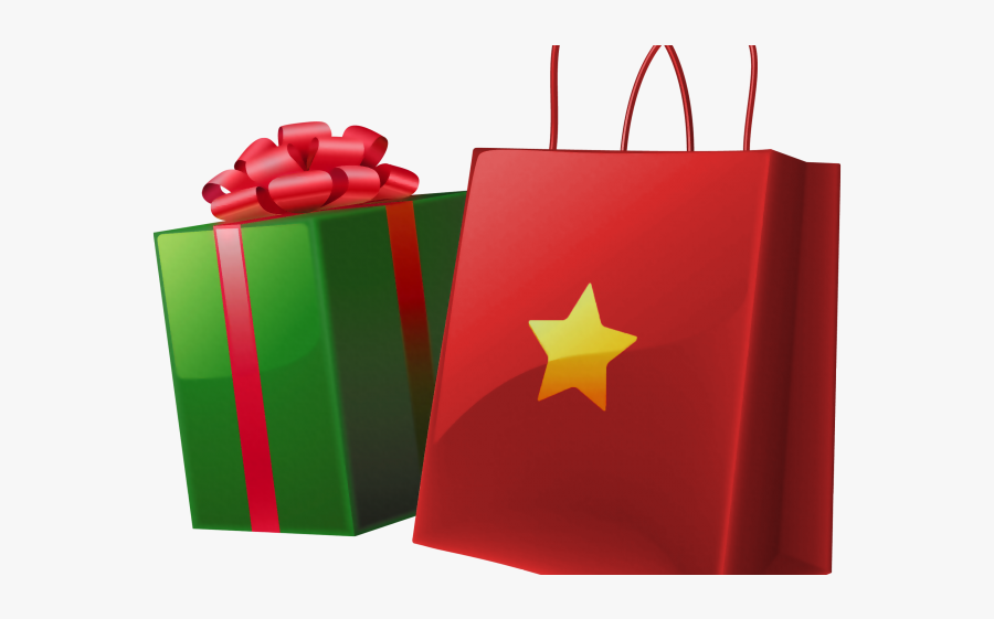 Gift Shopping Bag Png, Transparent Clipart