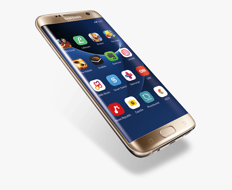 Hand Holding Samsung Transparent - Samsung Mobile Phone Png, Transparent Clipart