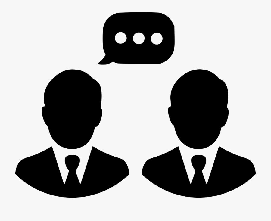 Men Talking Chat Communication - Employee Management System Logo, Transparent Clipart