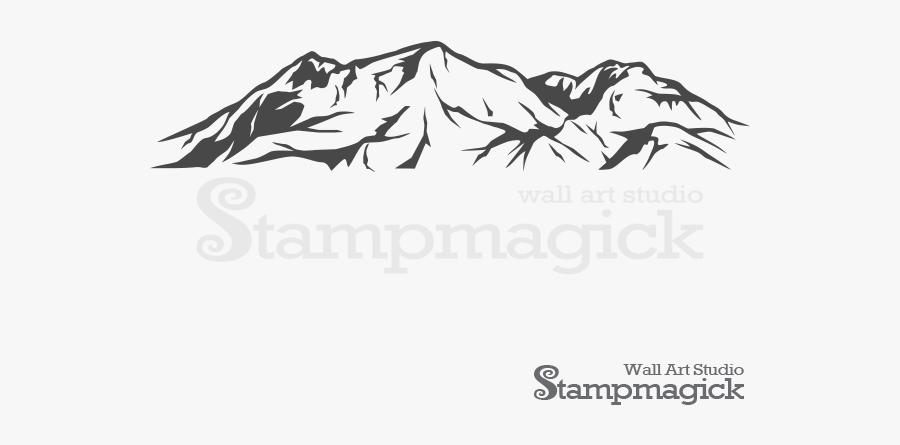 Snow Mountains Vector Png, Transparent Clipart