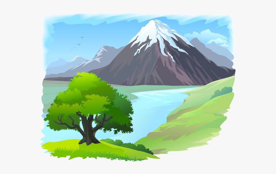 Clip Art Mountain River Clip Art - River In Mountain And Tree, Transparent Clipart