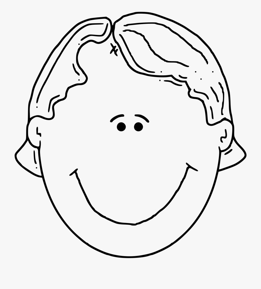 Boyface3 Outline - Clip Art Of Head, Transparent Clipart