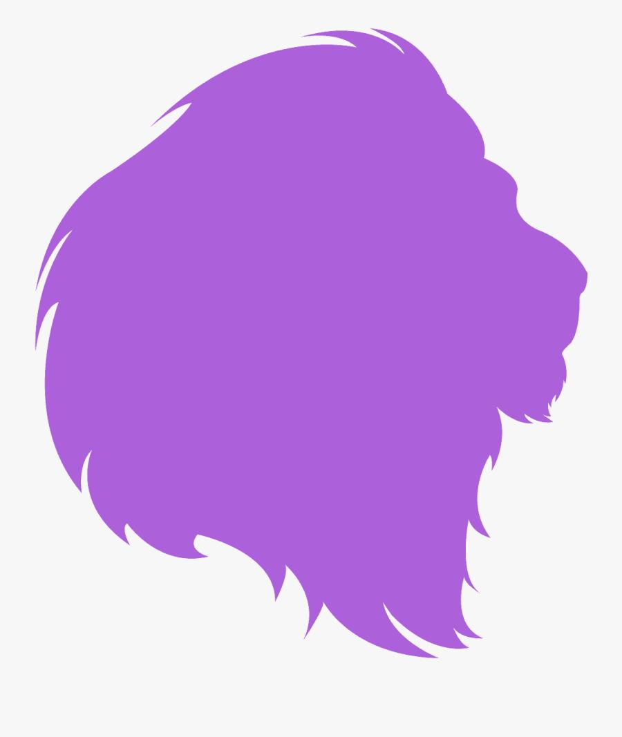 Pink Lion Head Silhouette, Transparent Clipart