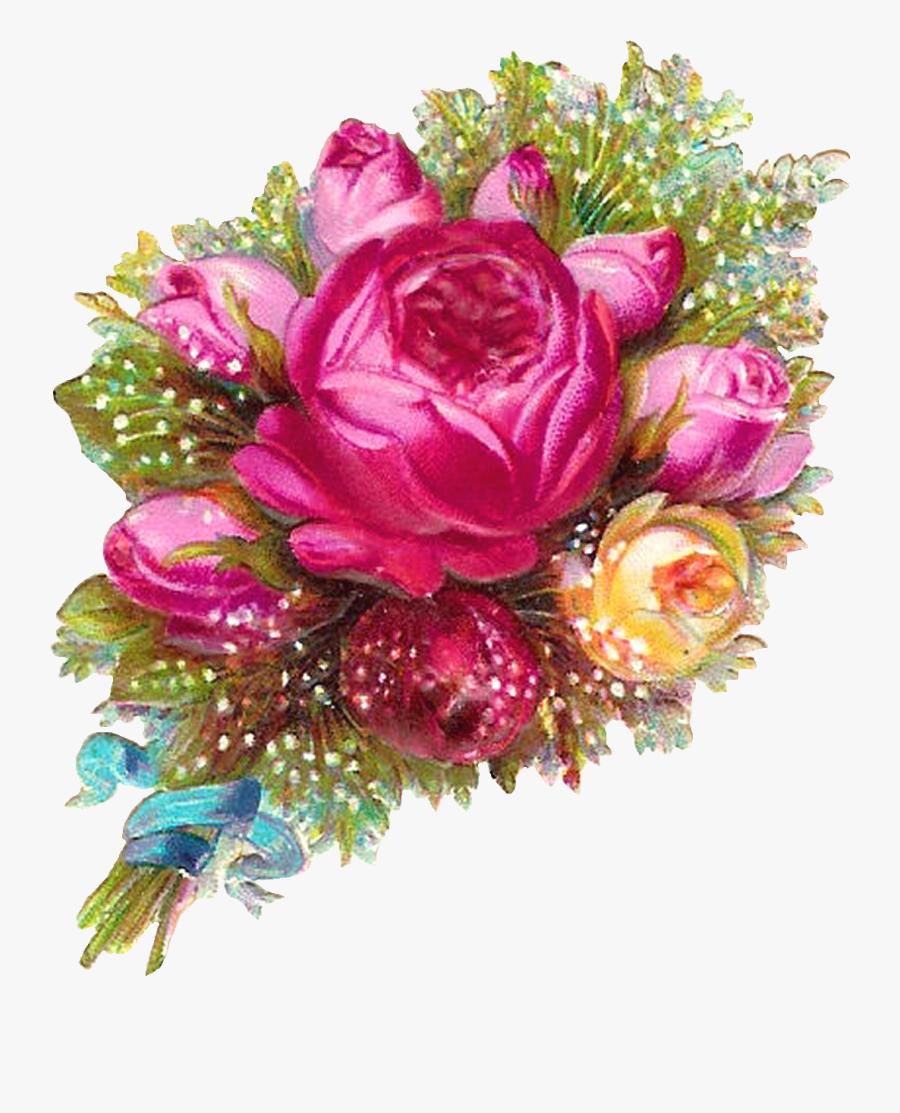 Flower Bouquet Rose Clip Art - Flower Bouquet Transparent Background, Transparent Clipart
