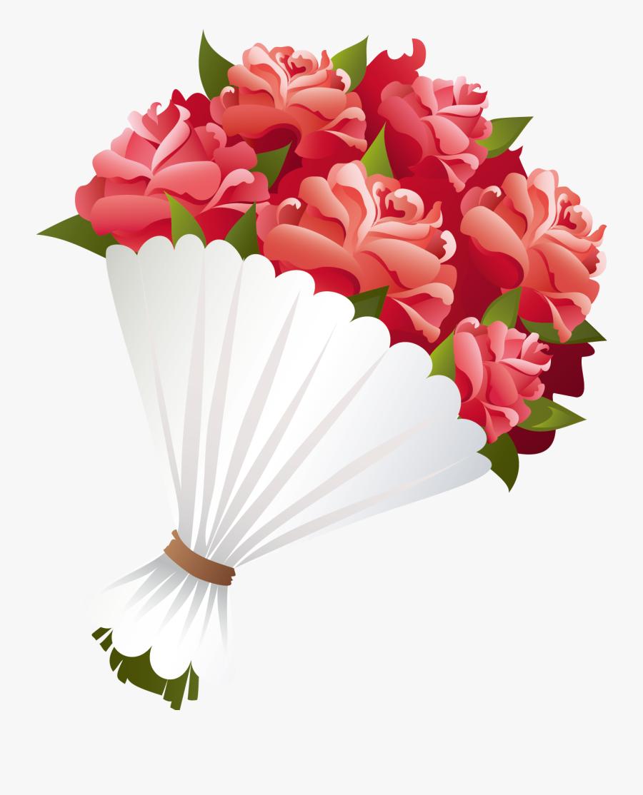 Png Flower Bokeh - Bunch Of Flower Cartoon, Transparent Clipart