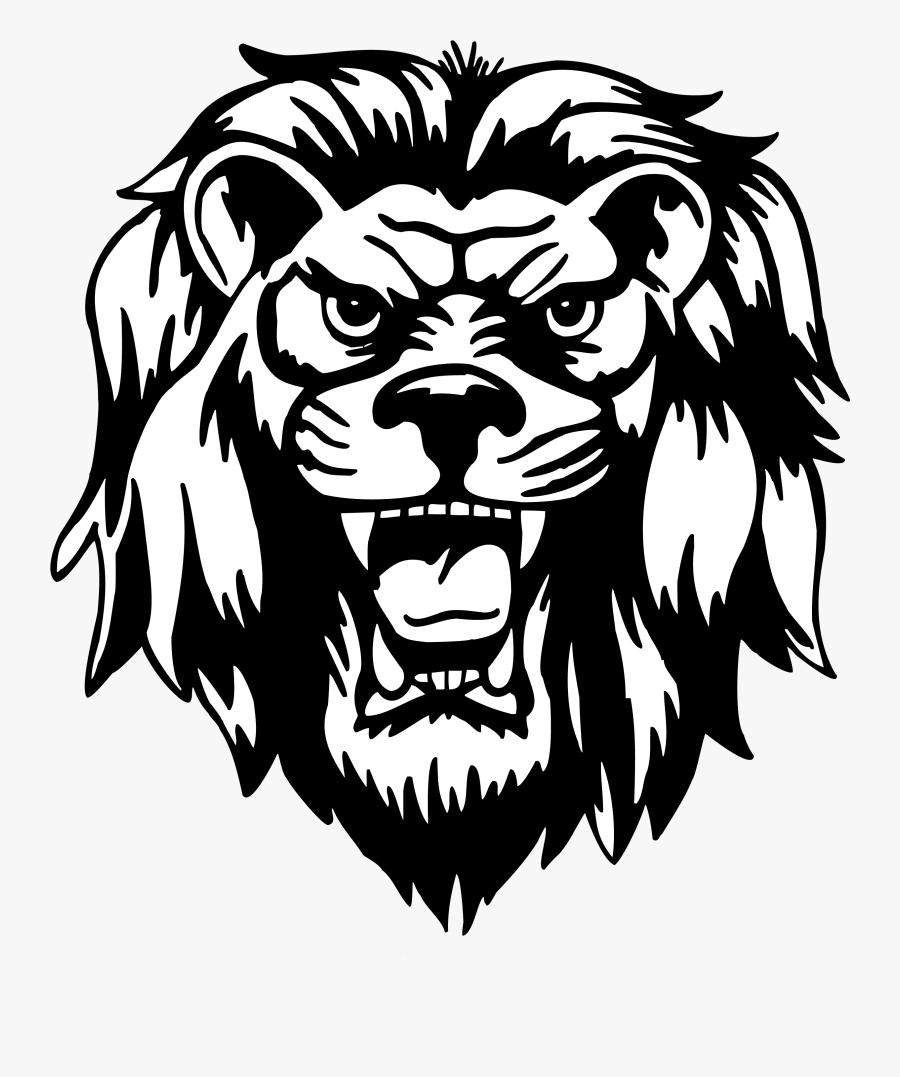 Lion - Lion Head Vector Png, Transparent Clipart
