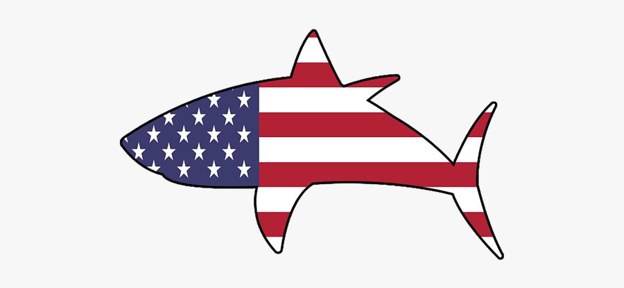 American Flag Shark Png, Transparent Clipart