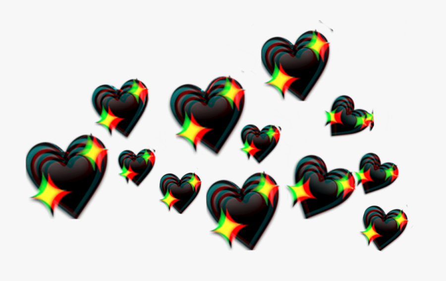 #crown #collar #glitch #black #heart #hearts #blackcrown - Transparent Aesthetic Heart Crown Png, Transparent Clipart
