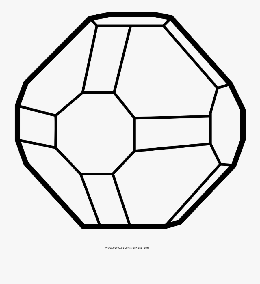 Crystal Clipart Coloring Page - Sketch, Transparent Clipart