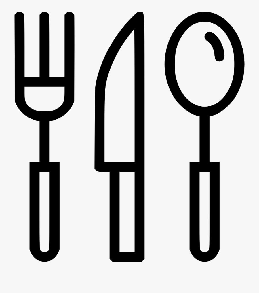 Cutlery Tableware Knife Fork Spoon Eat Food Comments - Knife Fork And Spoon Icon, Transparent Clipart