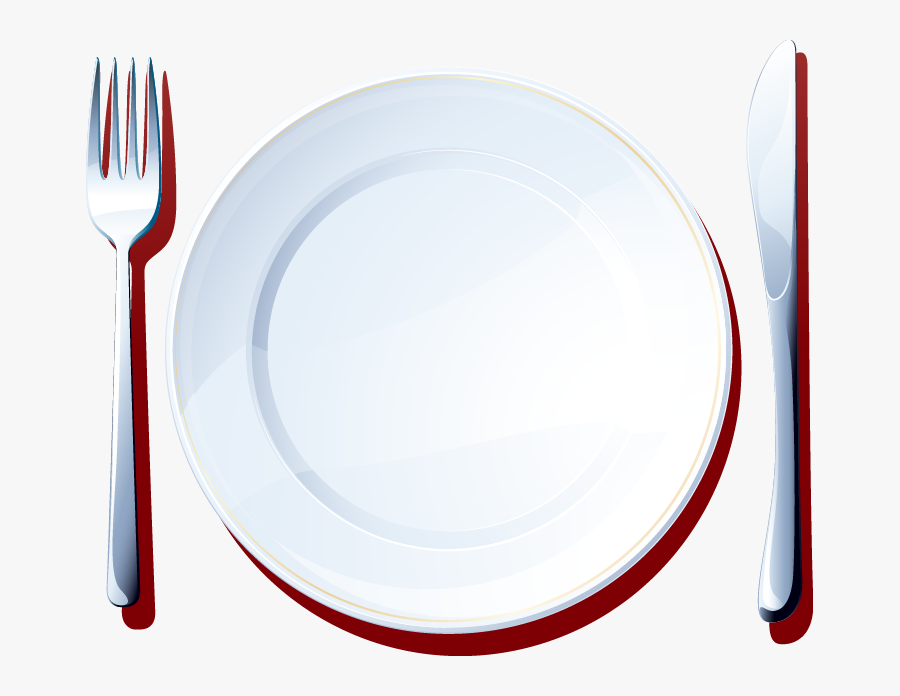 Knife Simple And Pattern - Plate, Transparent Clipart