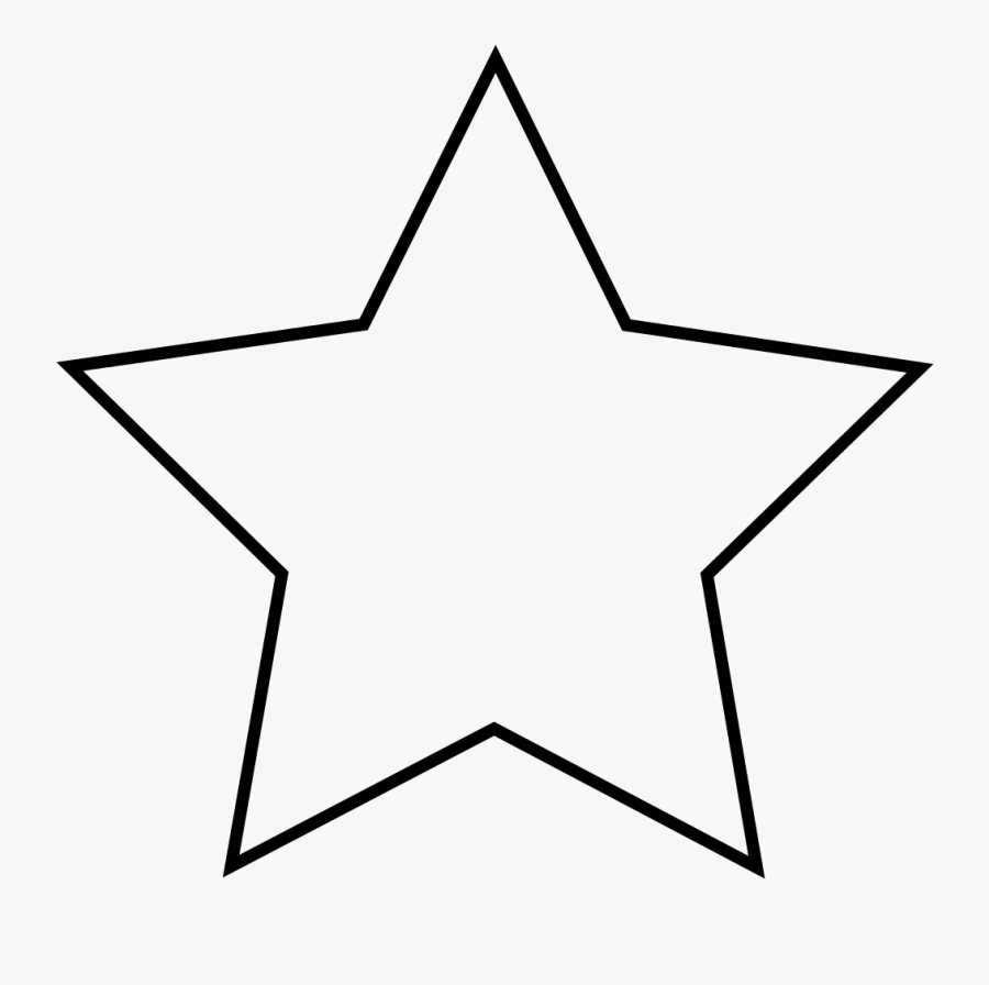 Good Article Star - Blue Star Outline Png, Transparent Clipart
