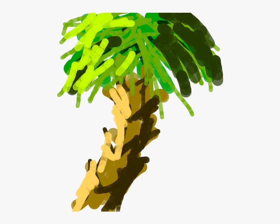 Leaf Tree Plant Botany Flower - Palm Tree, Transparent Clipart