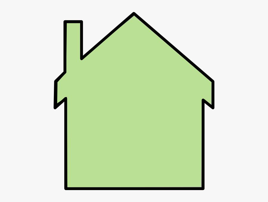 Stick Figure Family - House Outline Clip Art, Transparent Clipart
