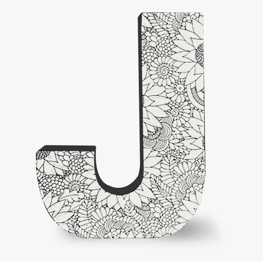 Color Joy Block Letters - J Letters, Transparent Clipart