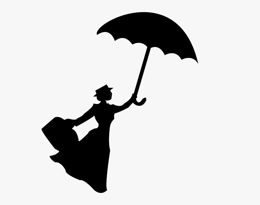 Silhouette Film - Mary Poppins What's Poppin, Transparent Clipart