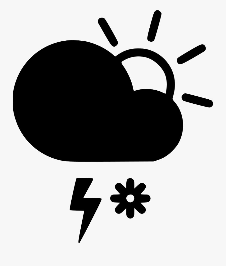 Day Snow Storm Cloud Lightning Sun Comments Cloud- - Icon Wind Rain Free, Transparent Clipart