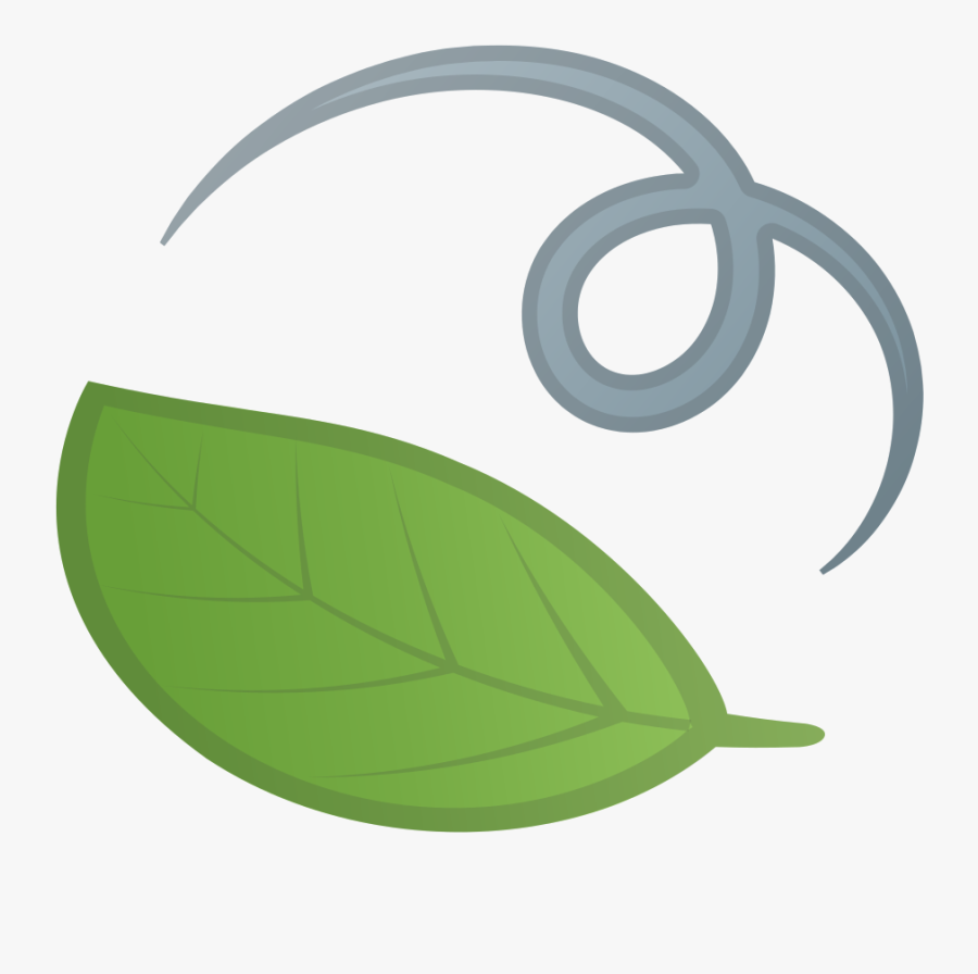 Green,leaf,clip - Hoja Emoji, Transparent Clipart