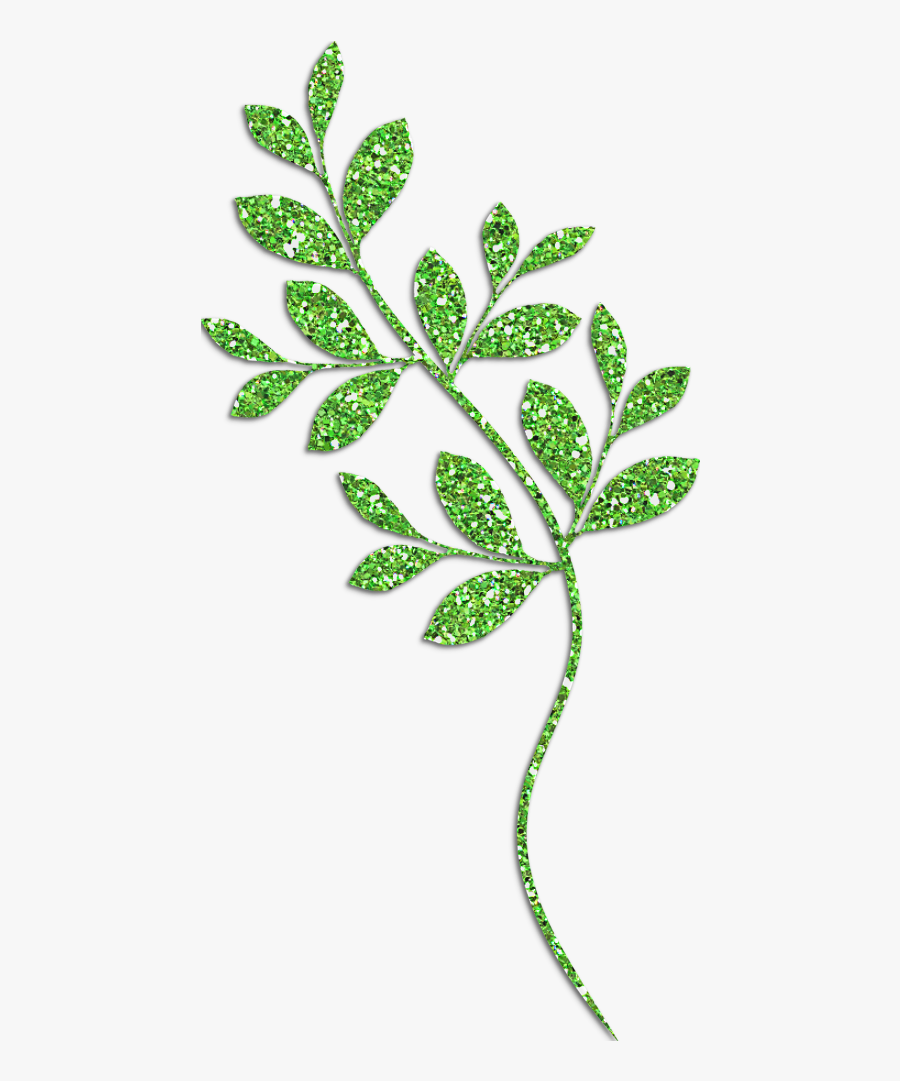 Green Leaf Design Png - Decorative Green Leaves Clipart, Transparent Clipart