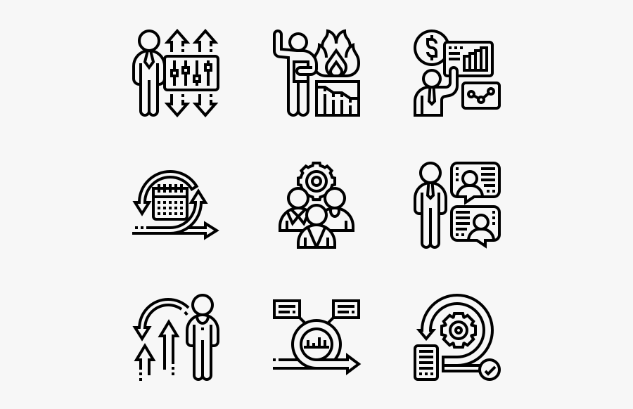 Scrum Process - Manufacture Icons, Transparent Clipart