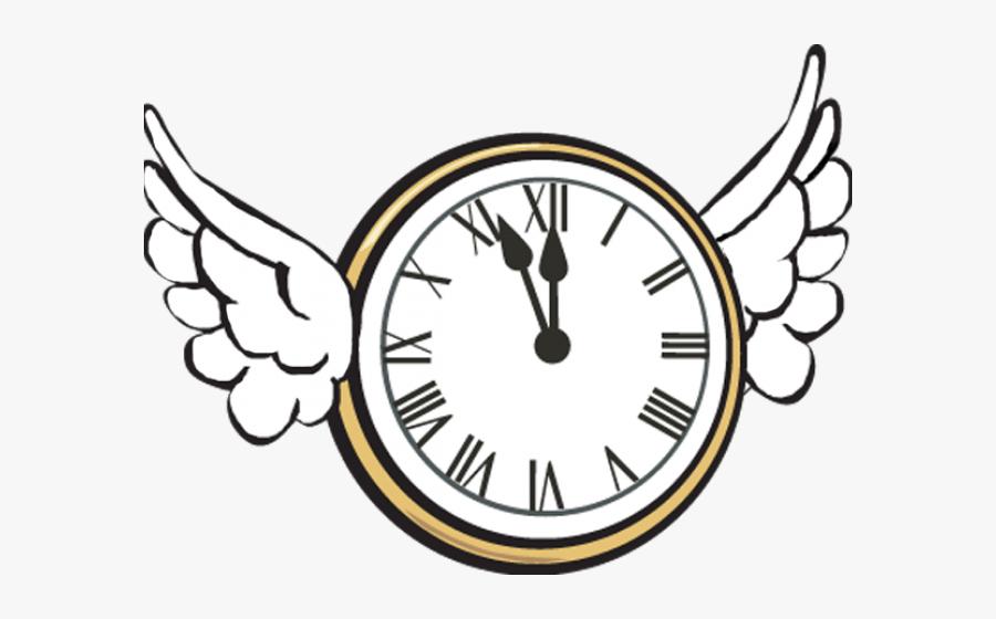 Transparent Wall Clock Clipart - Time Flies Clip Art, Transparent Clipart