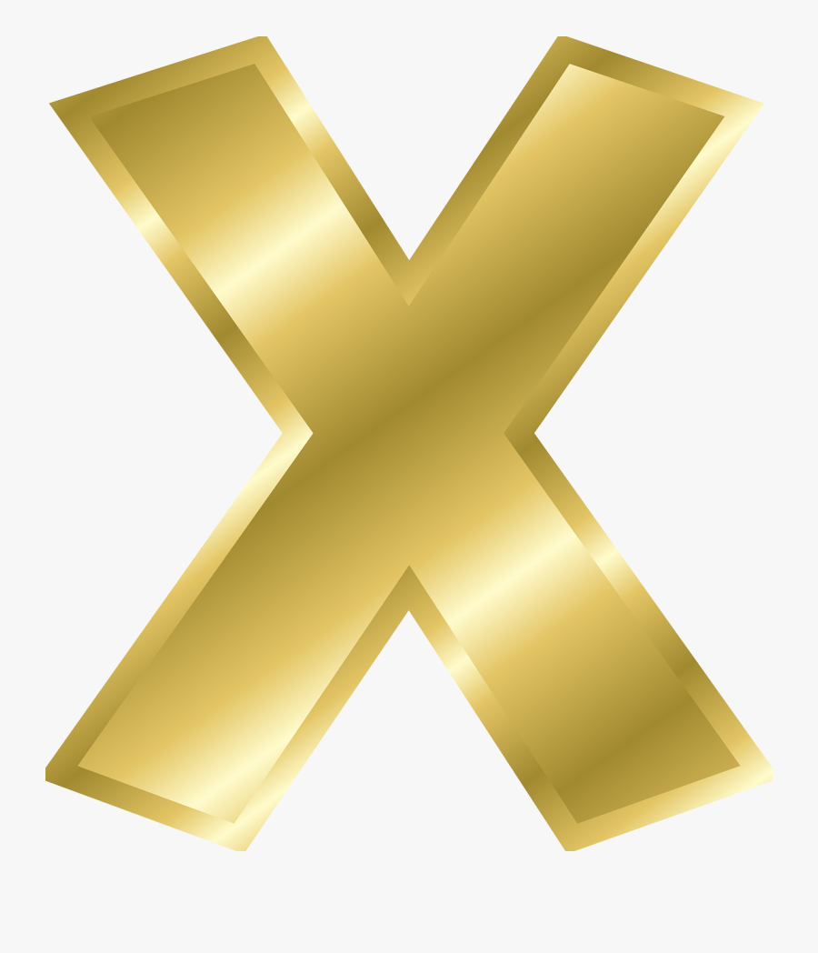 Angle,symmetry,gold - Gold Letter X Png, Transparent Clipart
