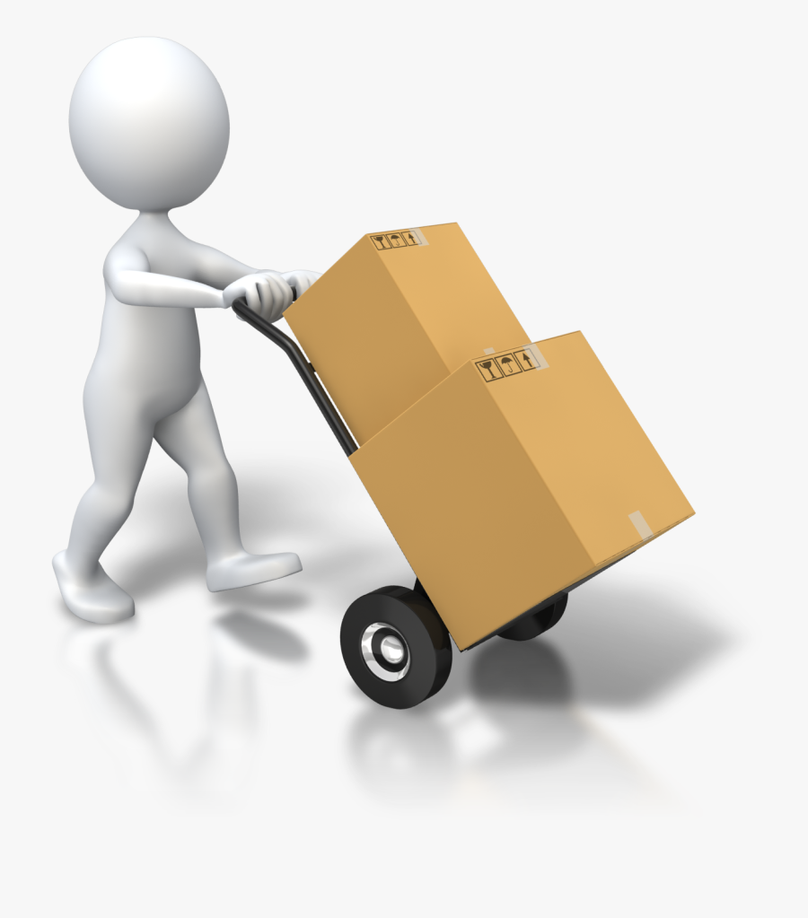 Solid Chemistry - Man Carrying Box Gif, Transparent Clipart