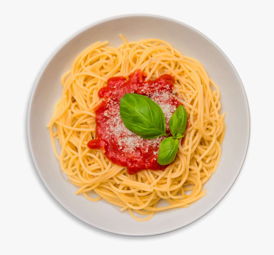 Pasta, Spaghetti And Meat Sauce - Spaghetti In Plate Png, Transparent Clipart