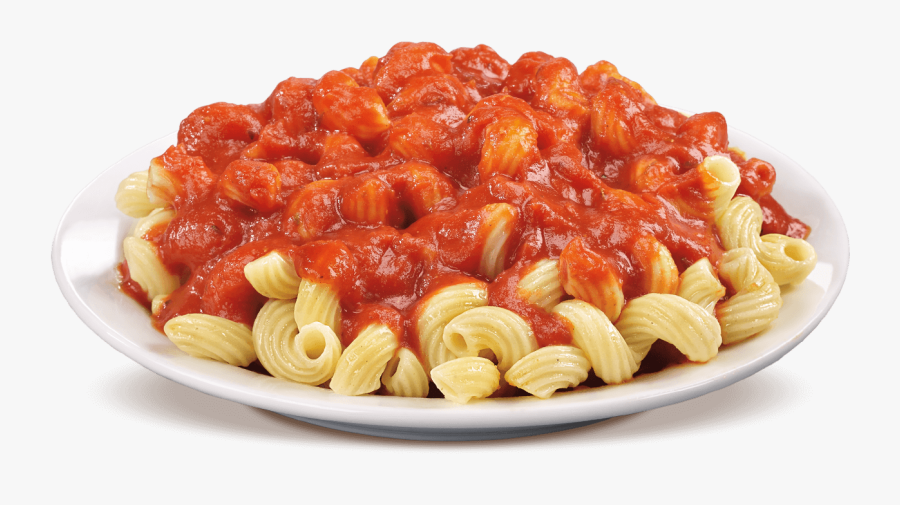 Pasta Png Images Free - Cavatappi Pasta With Marinara Sauce, Transparent Clipart