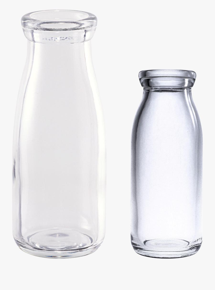 Milk Clipart Empty Glass - Glass Bottle .png, Transparent Clipart