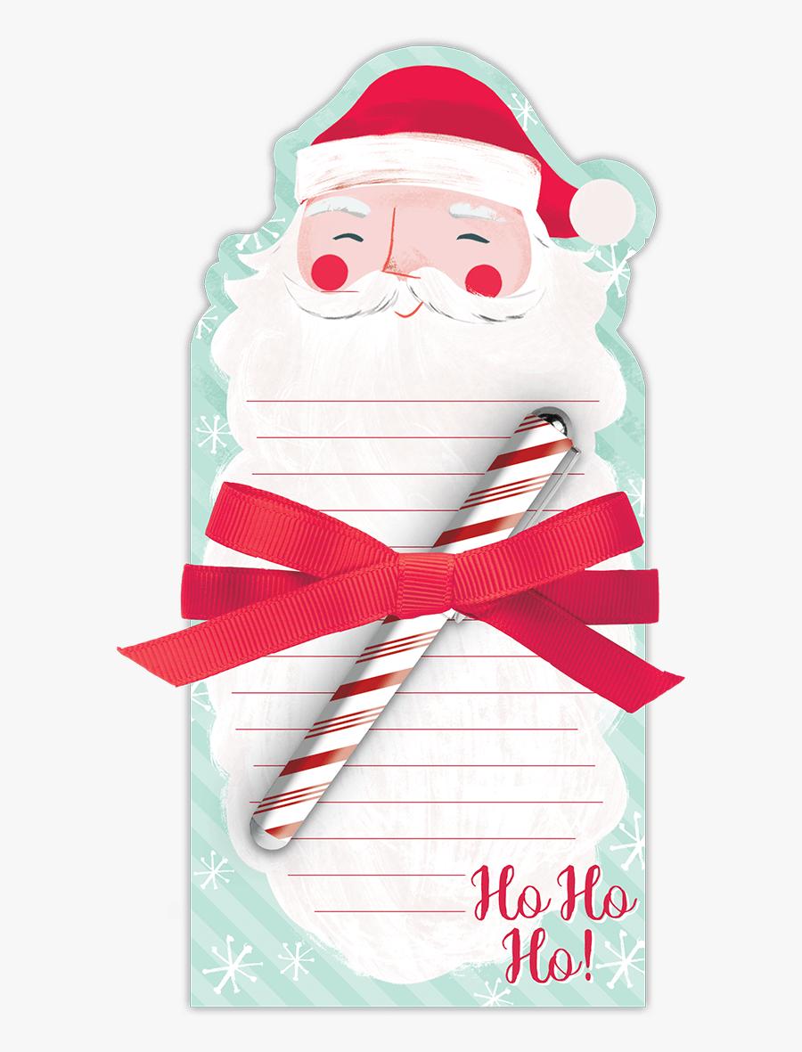 Santa Beard Note Pad With Pen - Santa Claus, Transparent Clipart