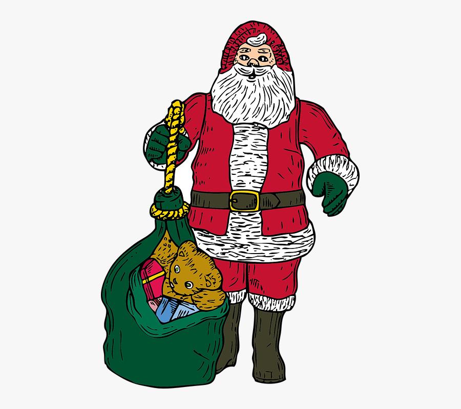 Santa Claus, Christmas, Xmas, Saint, Nicholas, Presents - Gambar Santa Claus Natal, Transparent Clipart
