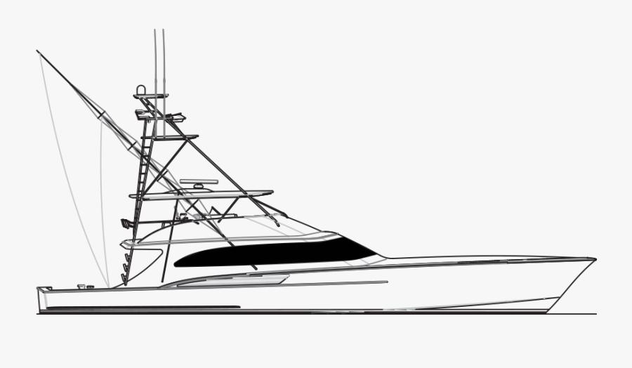 Transparent Pontoon Boat Clipart - Jarret Bay Boat Drawings, Transparent Clipart