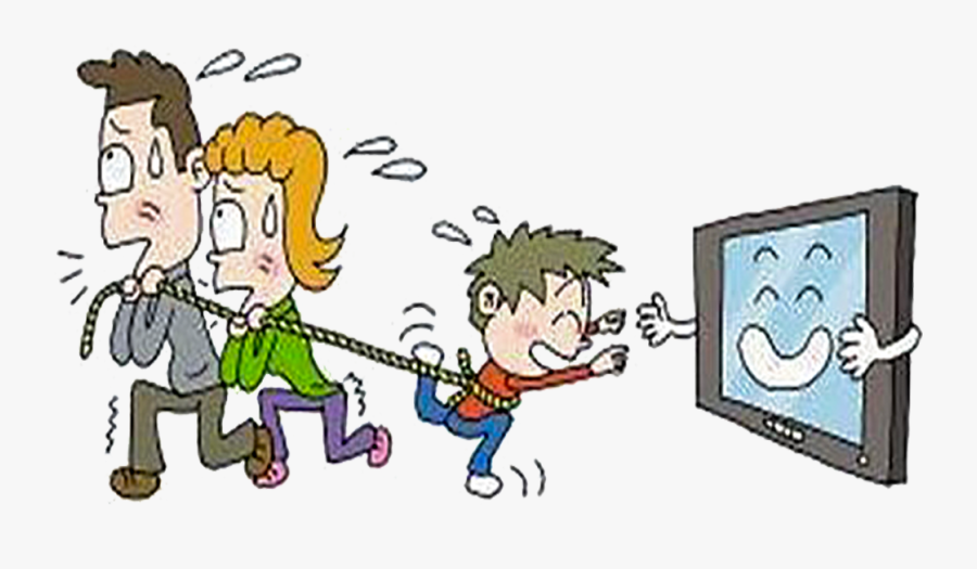 Educational Television Child Family - Cartoon Child Watch Tv, Transparent Clipart