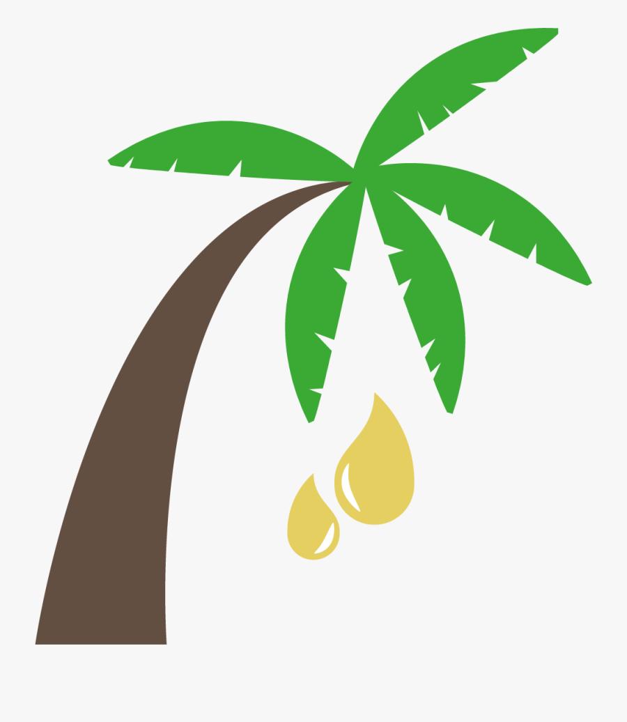 Transparent Palm Leaves Clipart - Palm Oil Clip Art, Transparent Clipart