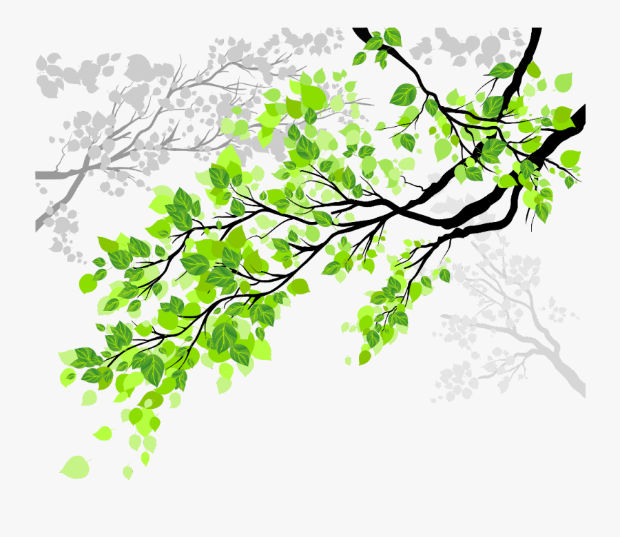 Transparent Tree Branch With Leaves Clipart - Tree Branch Png, Transparent Clipart