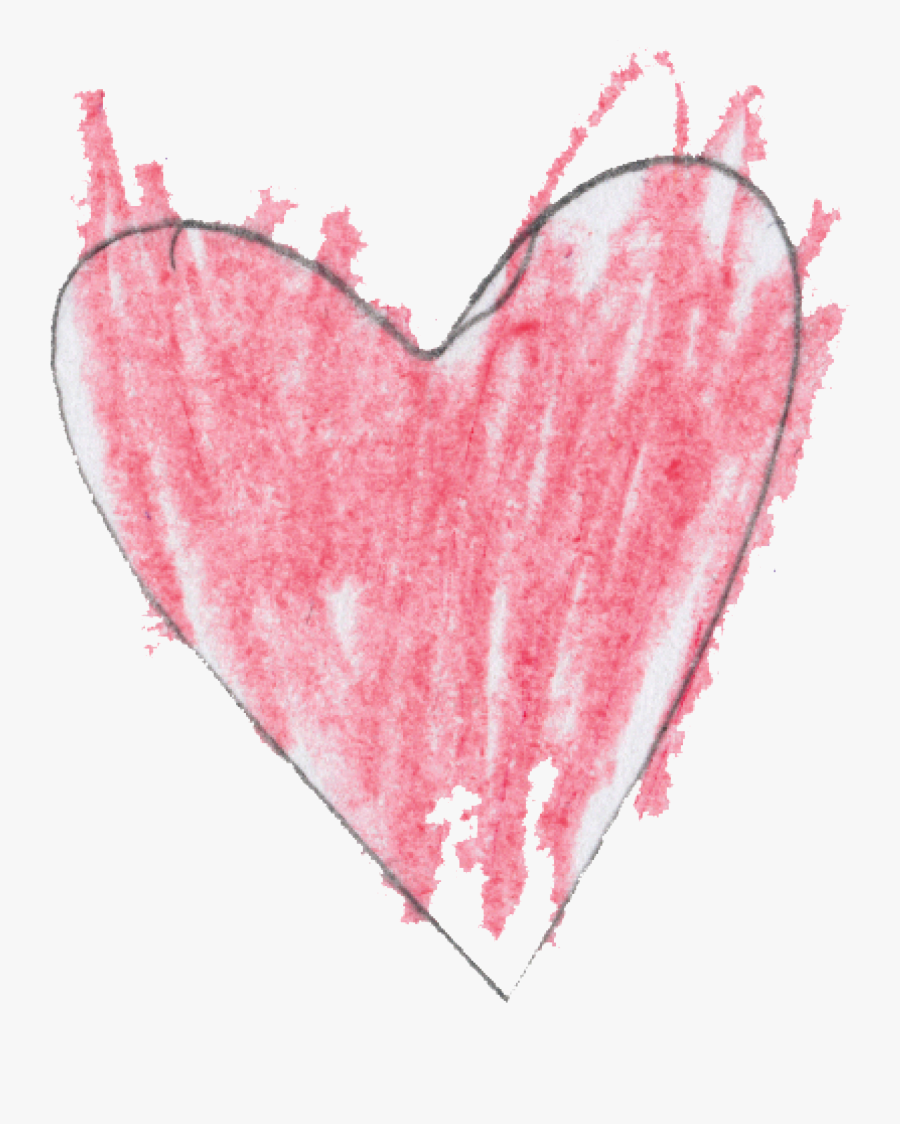 Transparent Hand Drawn Heart Clipart Free - Drawing Of Broken Hearts, Transparent Clipart