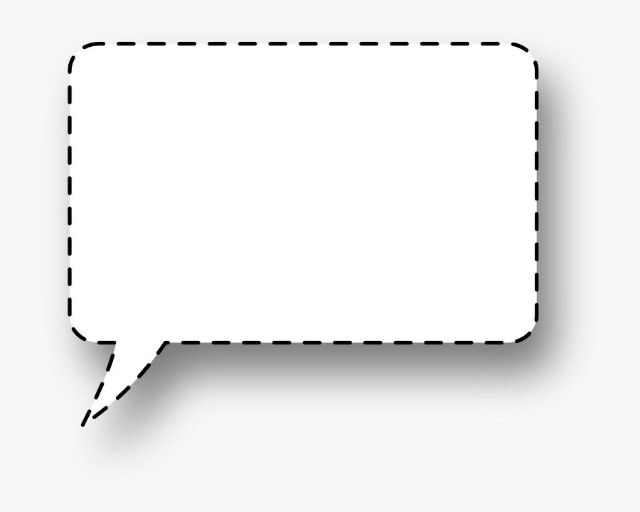 Large Speech Bubble Transparent Clipart , Png Download - Transparent Background Square Speech Bubble Png, Transparent Clipart