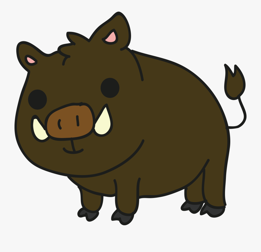 Clip Art Wild Clip Art Transprent - Wild Boar Cartoon Png, Transparent Clipart