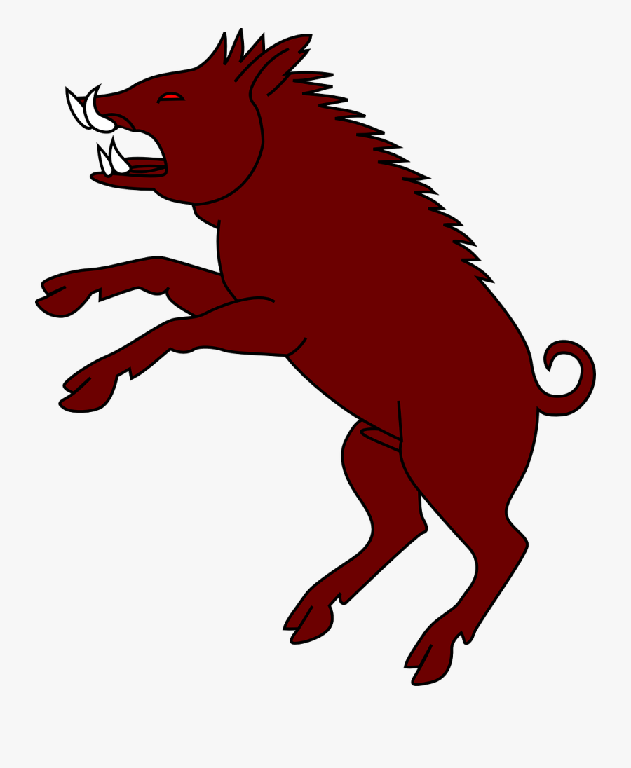 Wild Boar Silhouette Clip Art Boar Hunting Image - Boar Black And White, Transparent Clipart