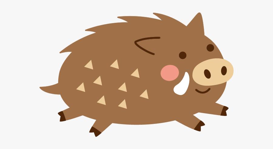 Wild Boar Book Illustration Silhouette Clip Art - イノシシ イラスト 走る, Transparent Clipart