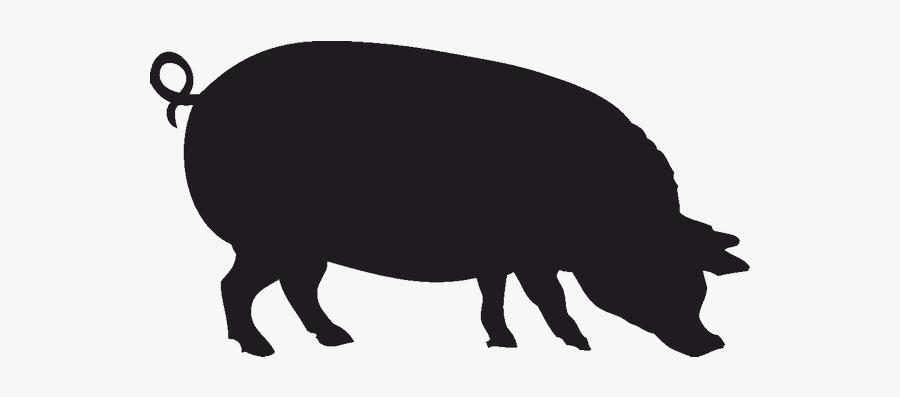 Wild Boar Silhouette Stencil Clip Art - Farmhouse Butcher Prints, Transparent Clipart