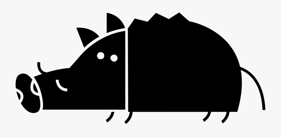 Vector Illustration Of Wild Boar Or Wild Swine Eurasian - Cat Playing With Yarn, Transparent Clipart