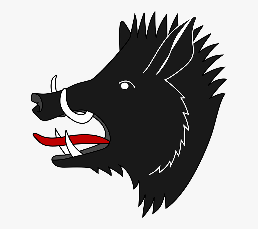 Boar Png - Boar On Coat Of Arms, Transparent Clipart