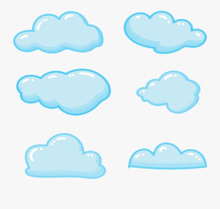 Cloud Blue Sky Clip Art - Blue Cute Cloud Clipart, Transparent Clipart