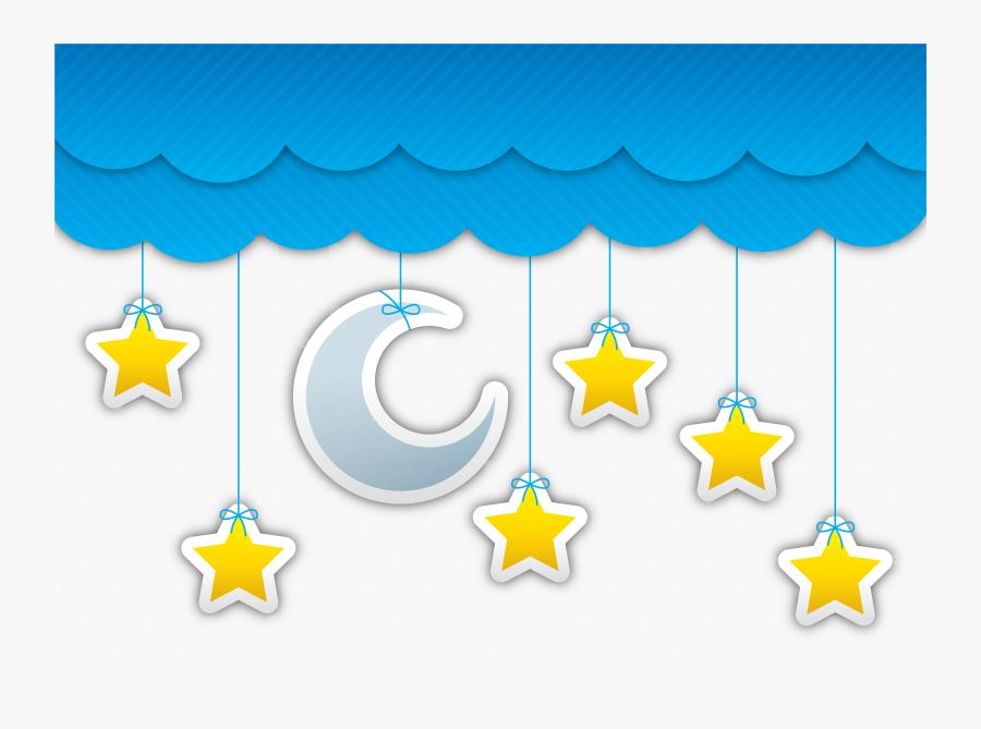 Star Moon Night Sky Cloud - Estrela E Lua Png, Transparent Clipart