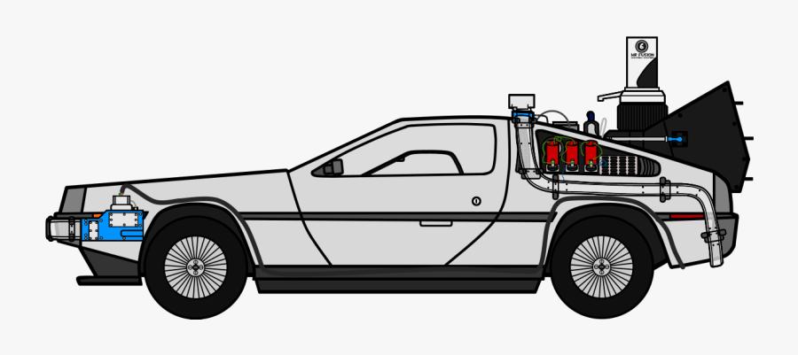 Delorean Clipart Bttf - Delorean Time Machine Drawing, Transparent Clipart