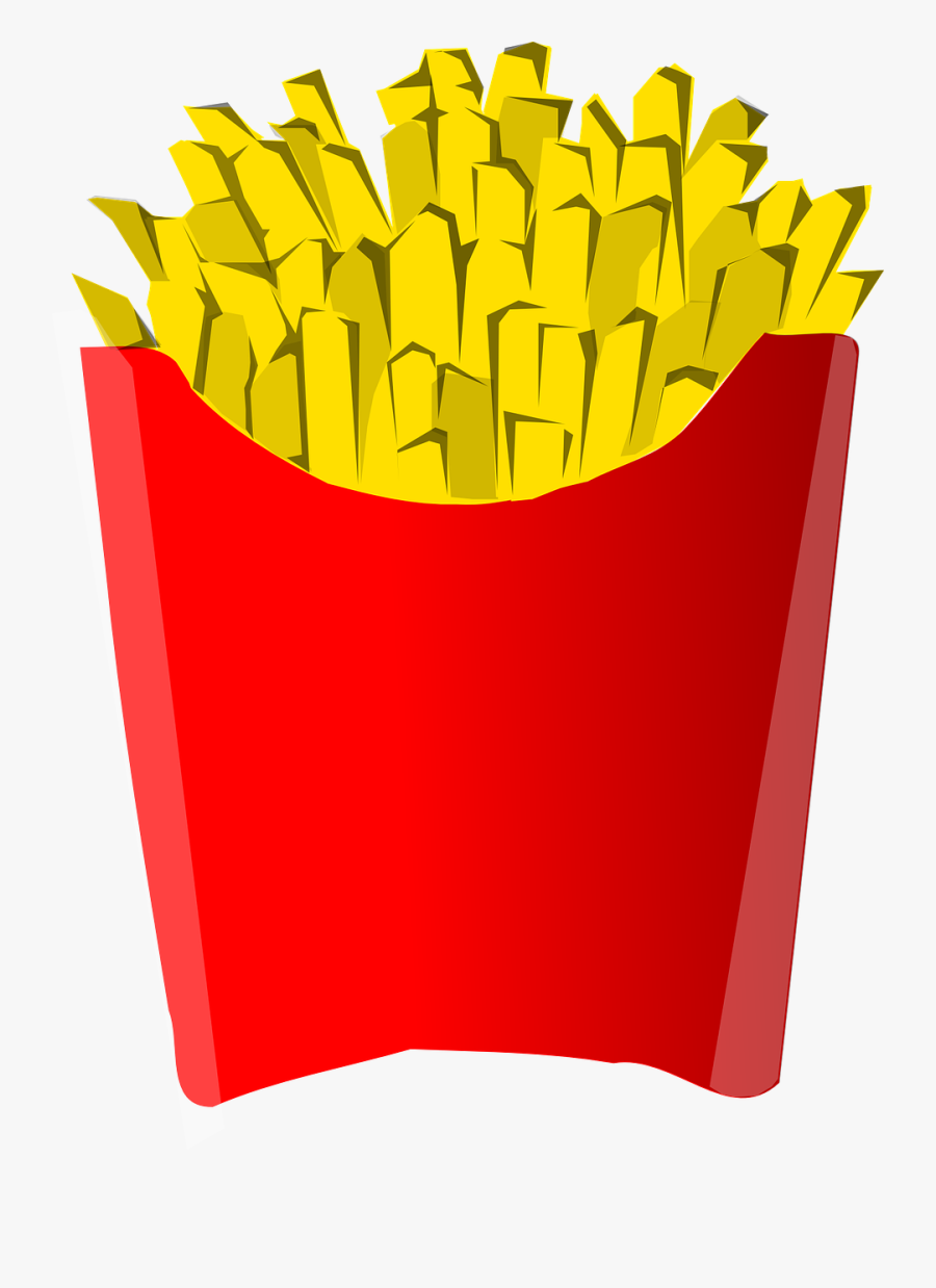 Transparent Bag Of Chips Clipart - French Fries Clip Art, Transparent Clipart